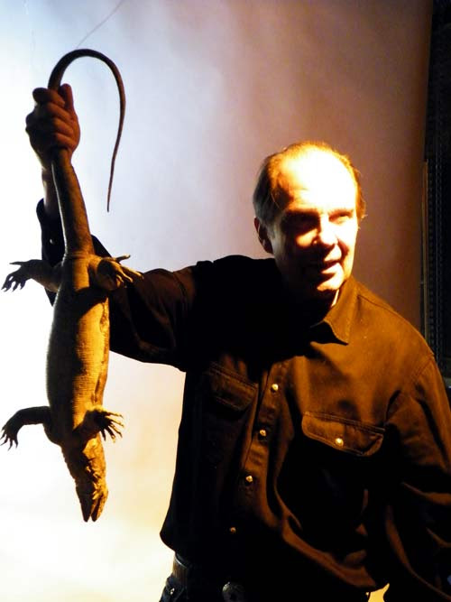 Ted Lewin and Lizard - photoshoot