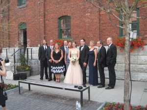 The family of the bride and groom pose for photos. Copyright Deborah Abrams Kaplan