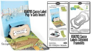 The last new insert is the Sassy Label. Labels continue to be excellent sellers in the Pop 'n Cuts family. Crafters love being able to quickly animate a greeting or use the labels to animate other objects.
