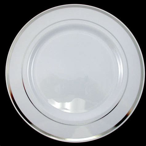 Dinner/Wedding/Party Disposable Plastic Plates white