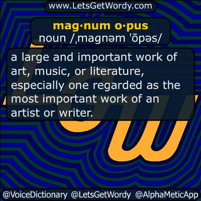 magnum opus 12/26/2016 GFX Definition