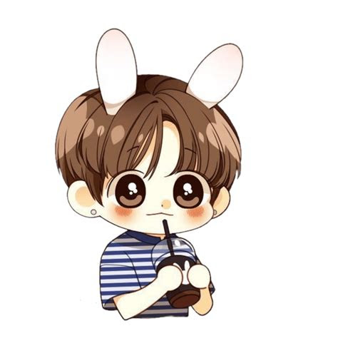 jungkook cute kawaii bts chibi easy drawings litle pups