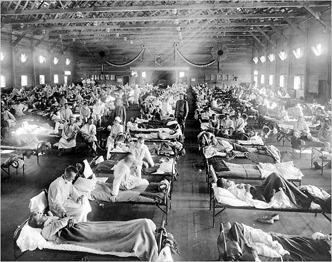 Victims of the 1918 influenza outbreak in Kansas.