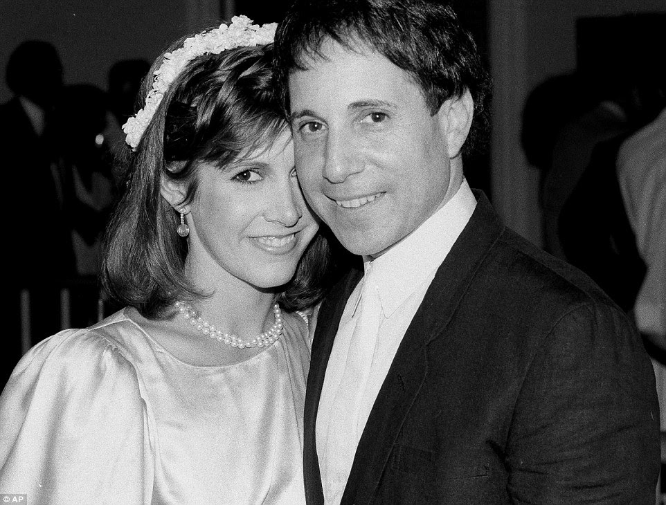 Fisher married Paul Simon in August 1983 after dating on and off for six years. The marriage was brief - they divorced a year later in 1984