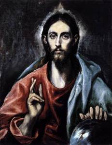 Christ as Savior by El Greco. You can pray, even when you're too tired to think.