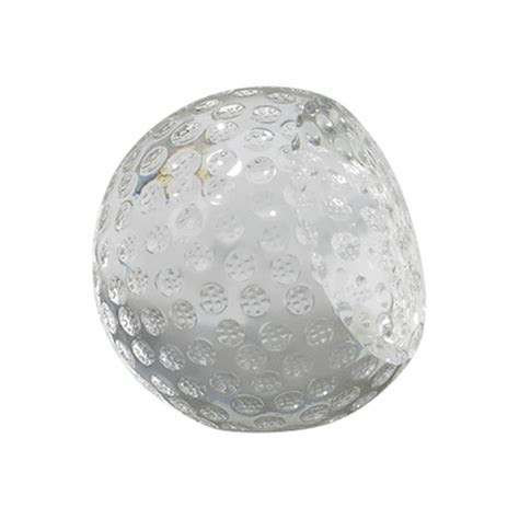 Personalized Medium Crystal Golf Ball Paperweight