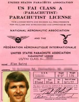 USPA license