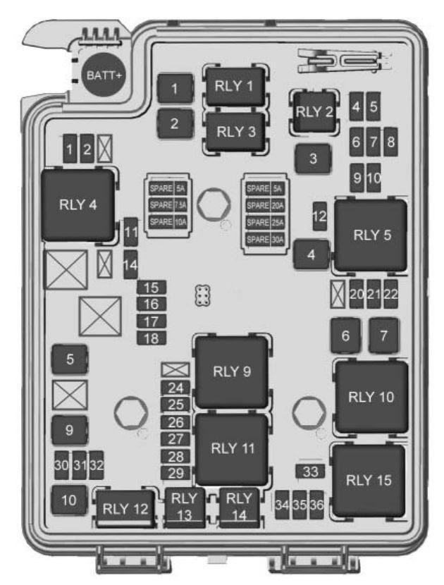 Chevrolet Sonic 2018 Fuse Box Diagram Auto Genius