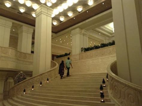 Stairs to rajendra hall   Picture of ITC Grand Chola