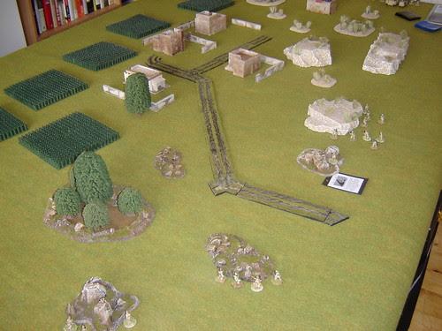 British force prepares to enter village