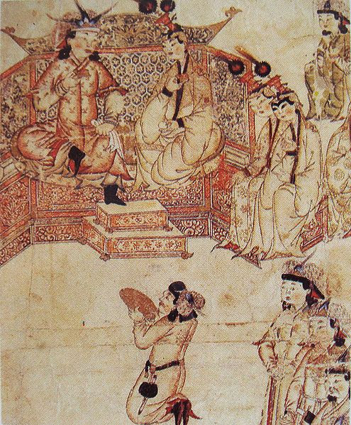 File:Ghazan with wife at his court.jpg