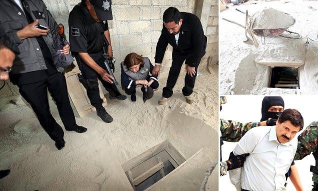 'El Chapo' Guzman escapes prison on an underground MOTORBIKE
