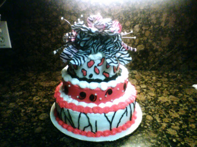 LEOPARD/ZEBRA PRINT CAKE