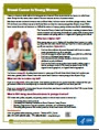 Breast Cancer in Young Women fact sheet