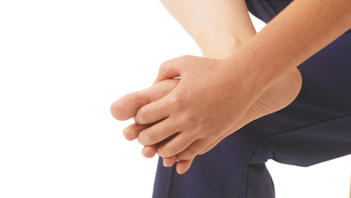 image of bunion pain yoga