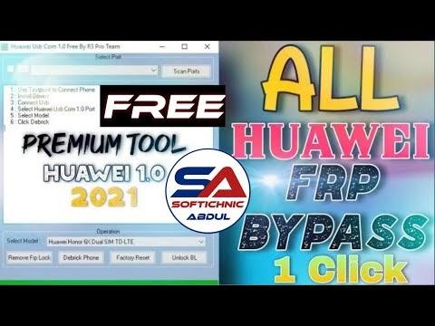 Download R3 Pro Huawei USB Com V1.0 Tool   Free Huawei Honor FRP Reset Tool by softichnic