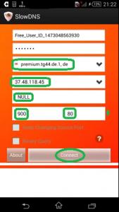Slow dns Viva y Entel 4G