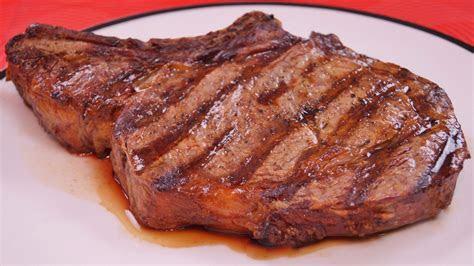 grilled rib eye steak recipe dishin   cooking
