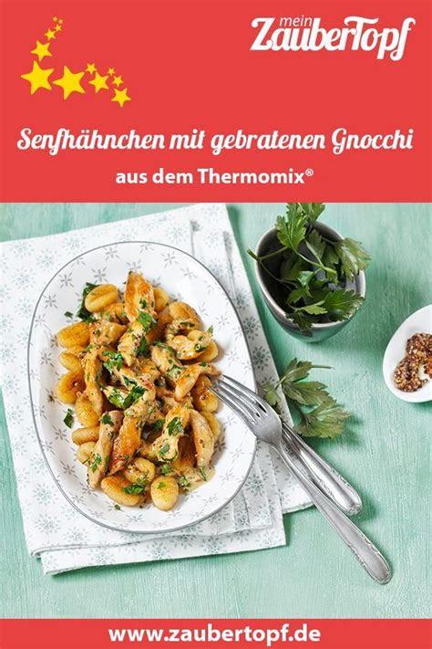 senfhaehnchen mit gebratenen gnocchi rezept rezepte