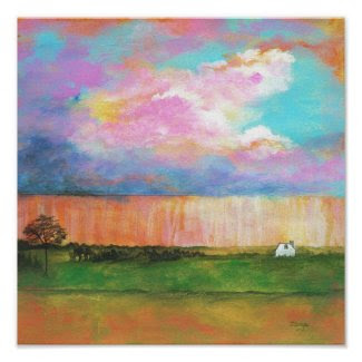 April Showers Original Painting Poster Print print