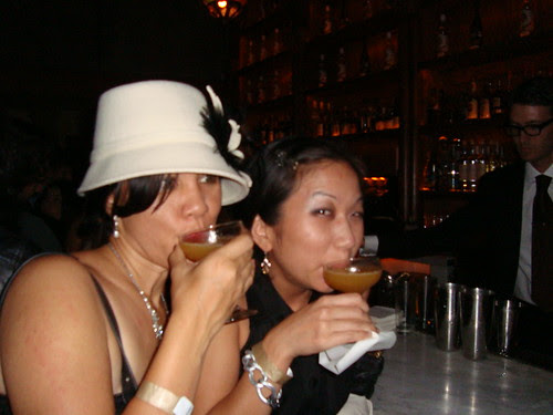 Caroline & Esther drinking