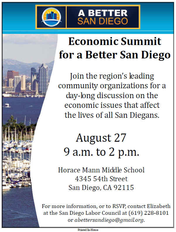 San Diego Economic Summit Flyer