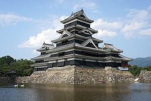 English: Matsumoto Castle in Matsumoto, Nagano...