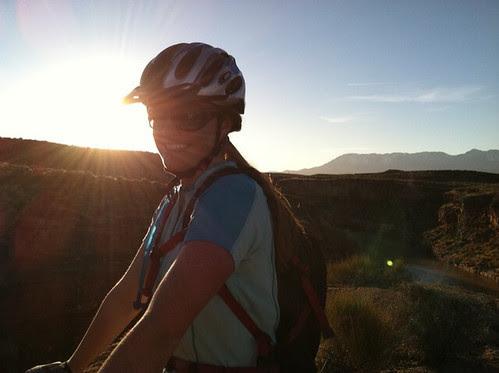 biking sunburst
