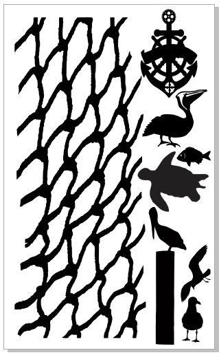 seaside net,turtle pelican anchor turtle 110 x 180