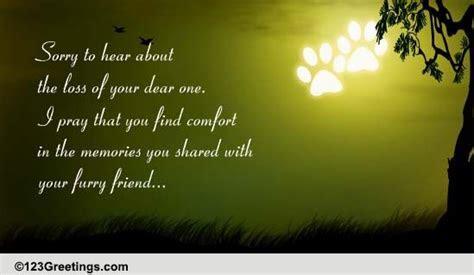 Memories Of Furry Friend. Free Loss of Pet eCards