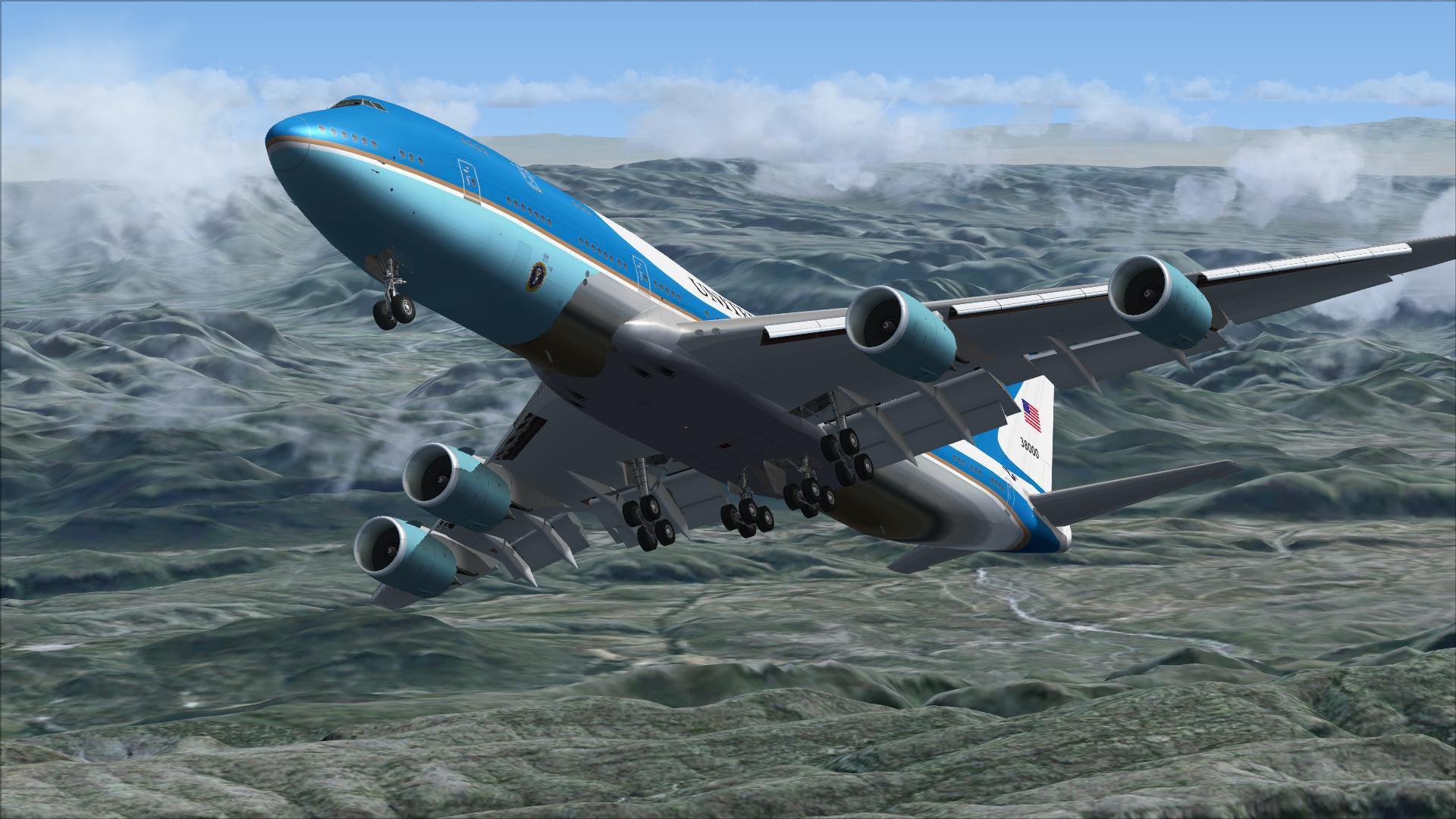 Risultati immagini per 747 Air Force One HD