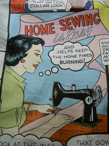 Home Sewing is easy - detail