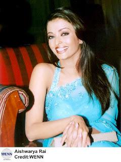 aishwarya raiin sky blue saree