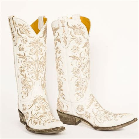 white cowboy boots ideas  pinterest