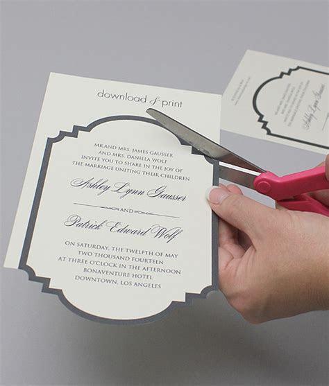 Classic Die Cut Wedding Invitation Set ? Download & Print