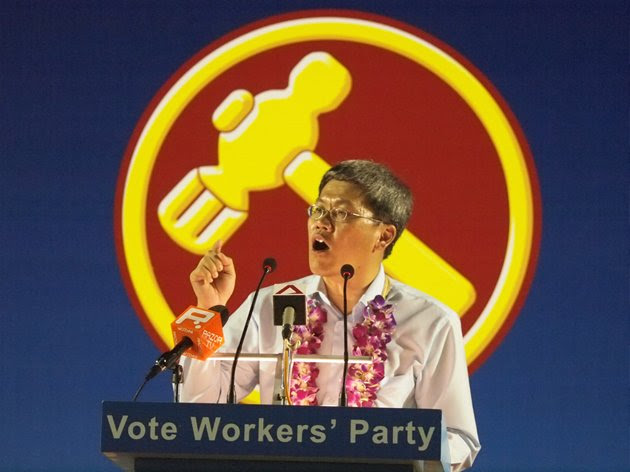 WP candidate Png Eng Huat makes it clear that Hougang must not be taken back by the PAP. (Yahoo! photo)