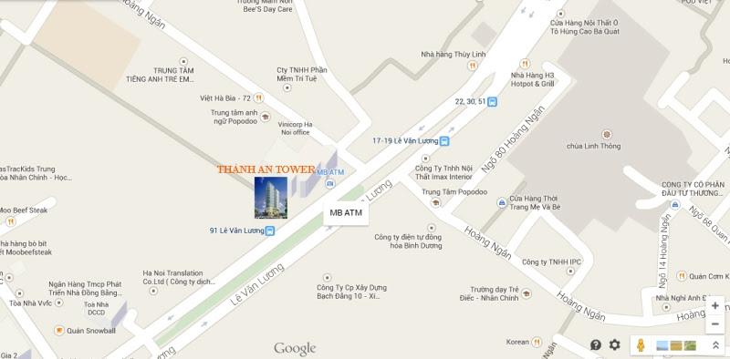 Vị trí dự án Thành An Tower 21 Lê Văn Lương