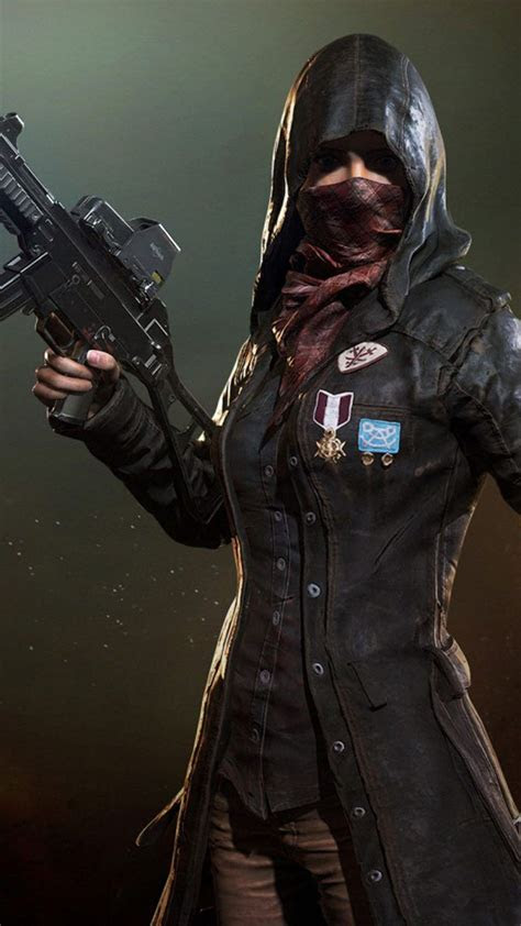 pubg female player  mask pubg hd wallpapers