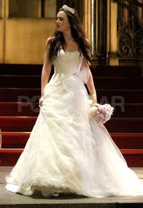 Blair Waldorf Wedding Dress Pictures on Gossip Girl Set