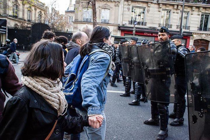Manifestation de solidarité avec les migrants malgré l'Etat d'urgence !