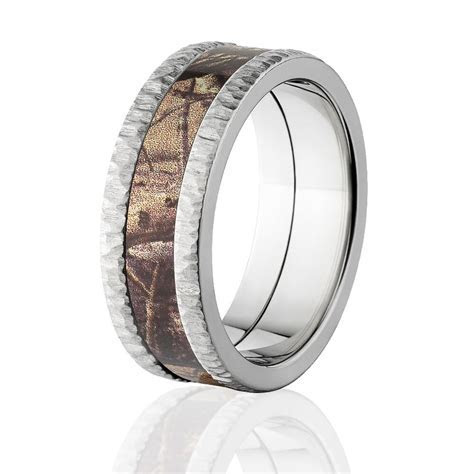 Realtree AP Camo Bands, Tree Bark Camouflage Wedding Ring