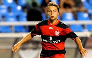 Igor Sartori na partida do Flamengo (Foto: Alexandre Vidal / Fla Imagem)