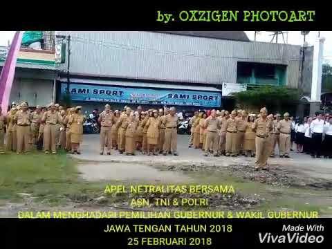 Mantap...!! Apel Bersama Netralitas TNI, POLRI, dan ASN pada Pemilukada Kec.Jebres.