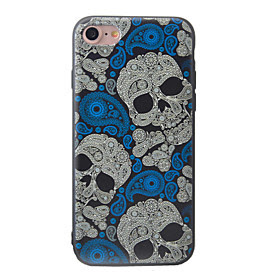 For Etui iPhone 7 / Etui iPhone 7 Plus / Etui iPhone 6 Monster Etui Bakdeksel Etui Hodeskalle Myk TPU AppleiPhone 7 Plus / iPhone 7 /