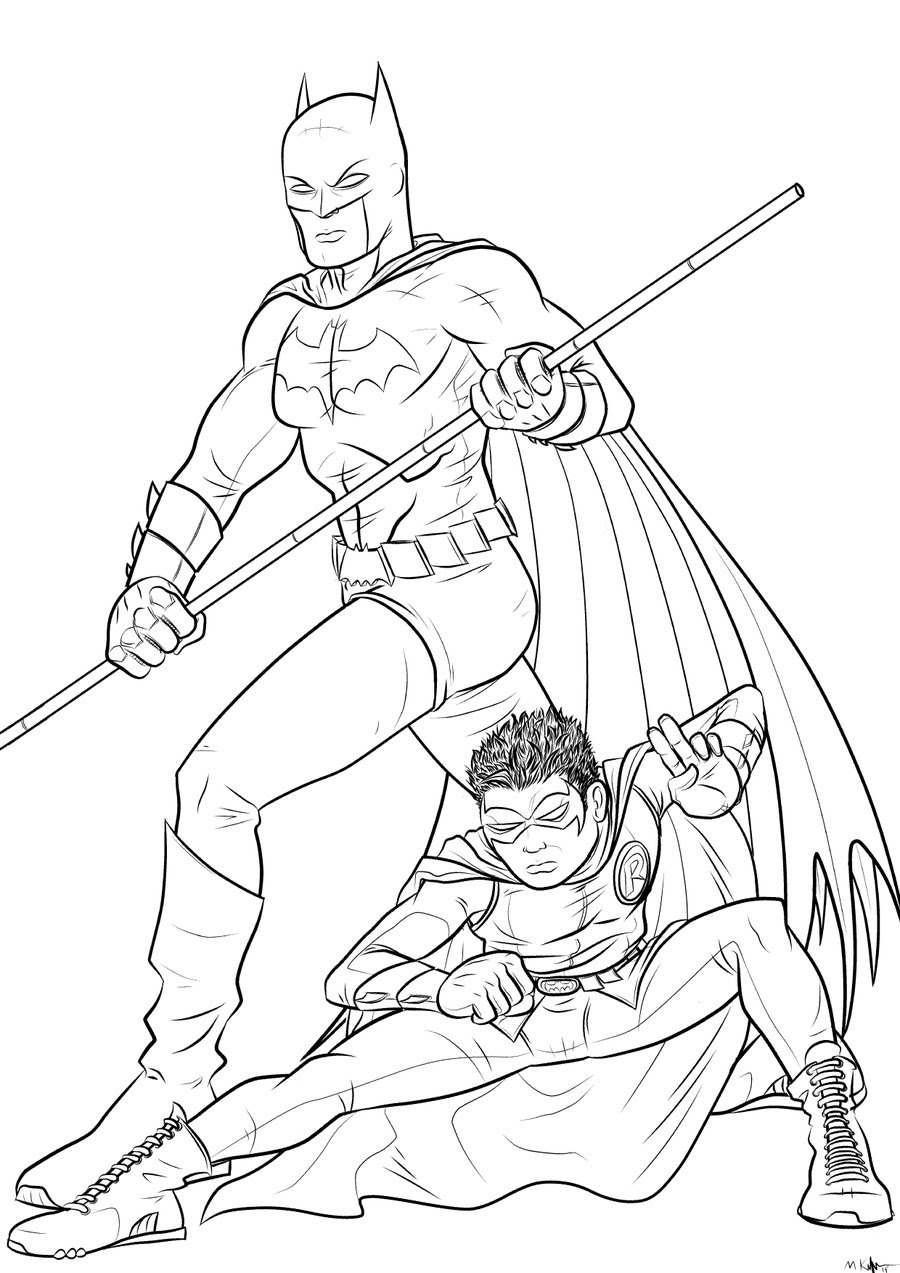 - Batman And Robin Coloring Pages To Download And Print For Free
