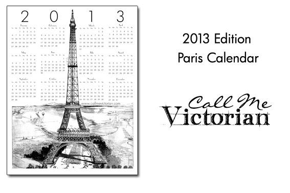 2013 paris calendar