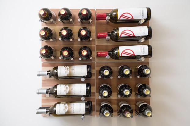 Au Naturel Grain Rod Metal And Wood Wine Rack Panel Kit 30