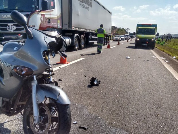 Idosa morre após ser atropelada por moto na rodovia Dom Pedro (Foto: Arquivo Pessoal/Rodrigo Big)