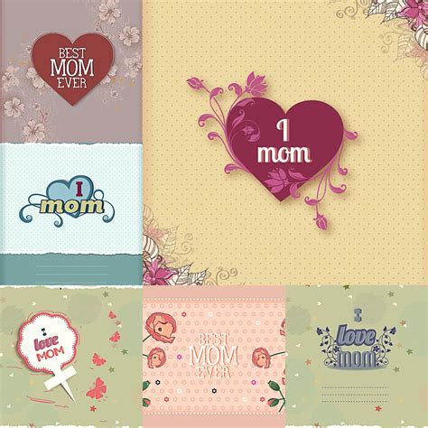 Mothers Day lovely card vector   Free download