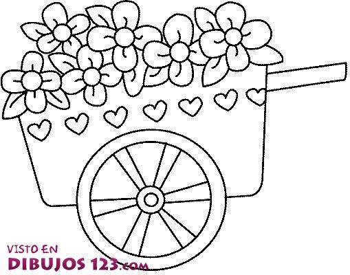 Carretilla Con Flores